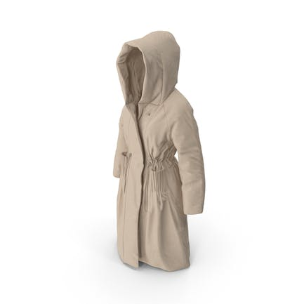Abrigo de plumón mujer beige