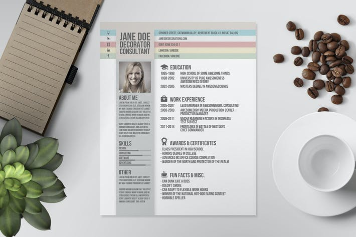 Thumbnail for Resume/CV Template V