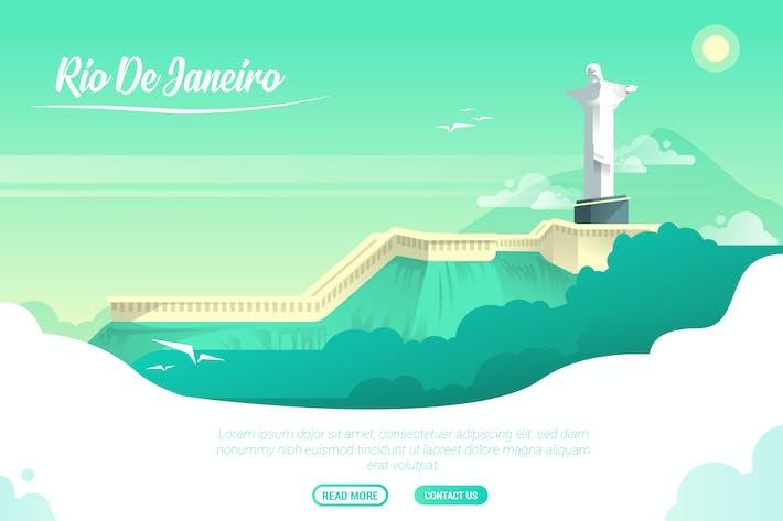 Thumbnail for Rio De Janeiro - Vector Landscape & Building