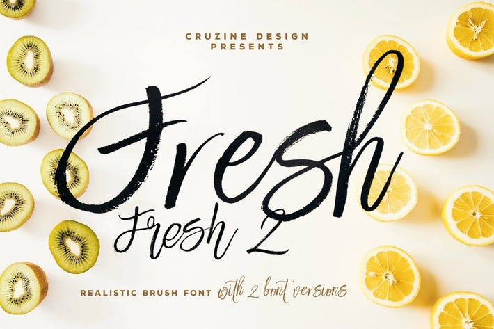 Cover Image For Fresh Brush Font