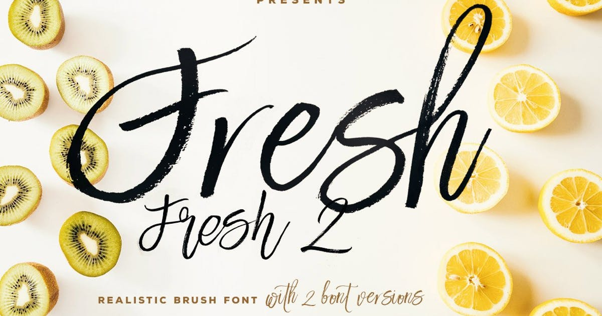 Download Fresh Brush Font by cruzine