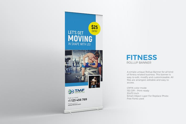 Thumbnail for Fitness Roll-up Banner