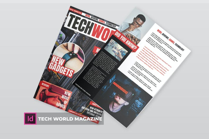 Thumbnail for tech world | Magazine Template