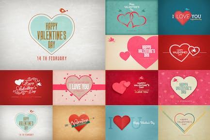 Tarjeta de San Valentín/Fondos