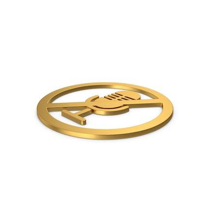 Gold Symbol No Microphone