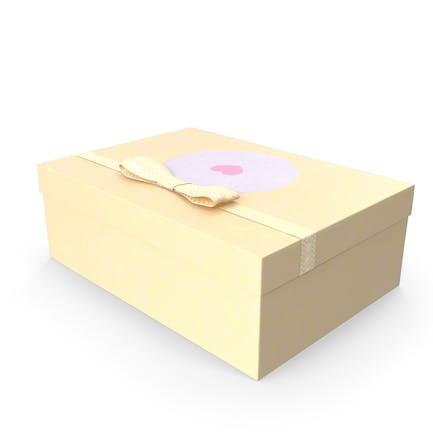 Caja de regalo de diseño sencillo.
