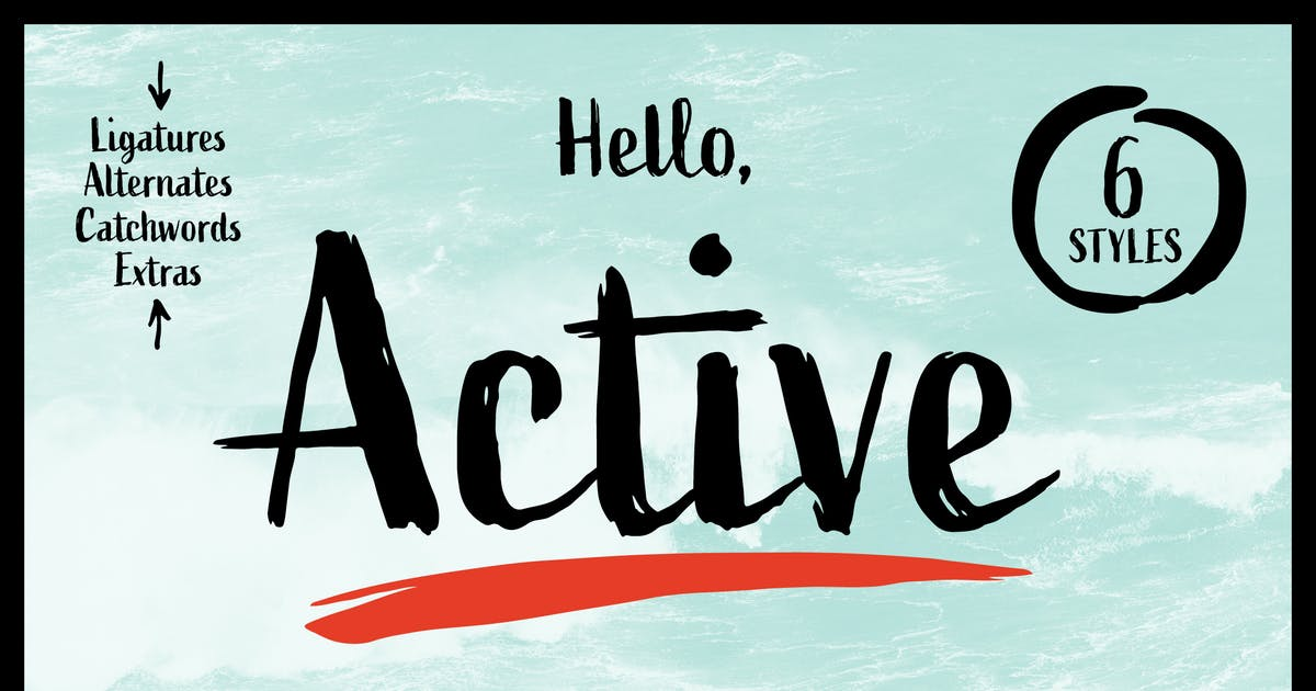 Download Active Font Family by adamladd