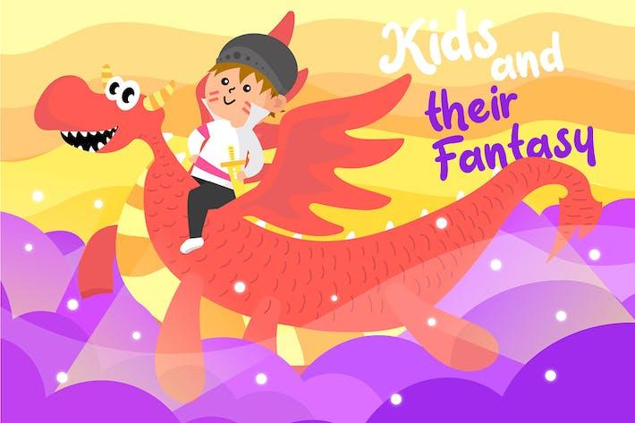 Thumbnail for Kid Fantasy - Ilustración Vector