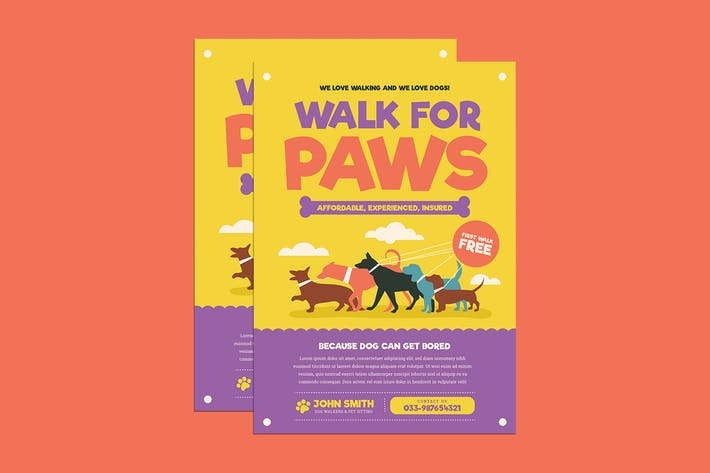 Thumbnail for Dog walkers Flyer