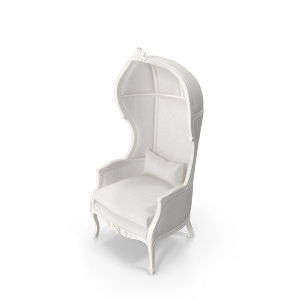 White Balloon High Baroque Chair