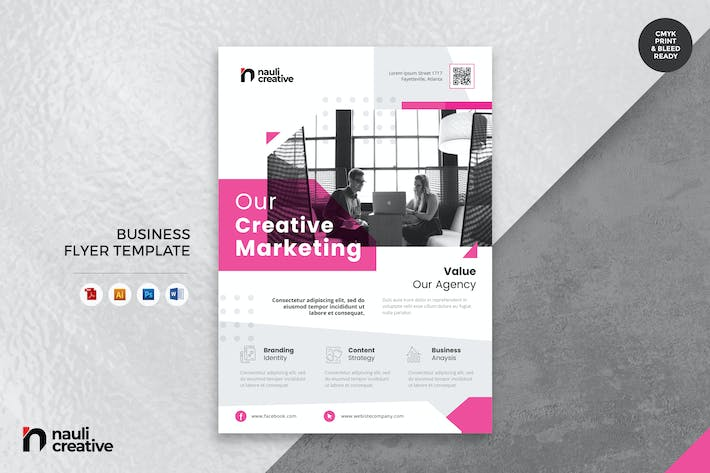 Thumbnail for Corporate Business Flyer AI, DOC, & PSD Vol.6