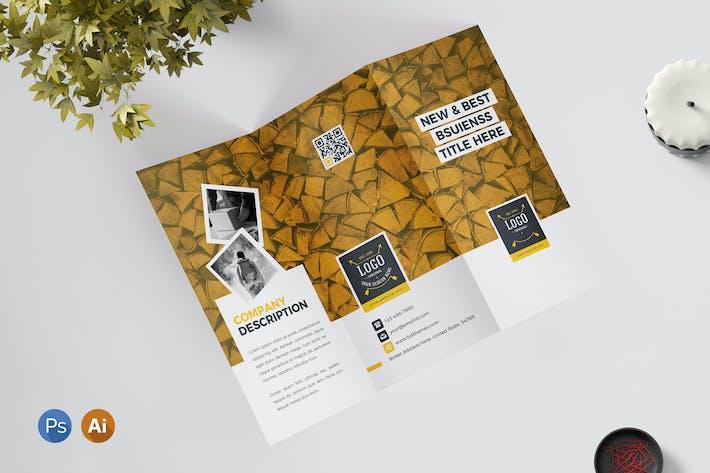 Thumbnail for Tri Fold Brochure Retro 03