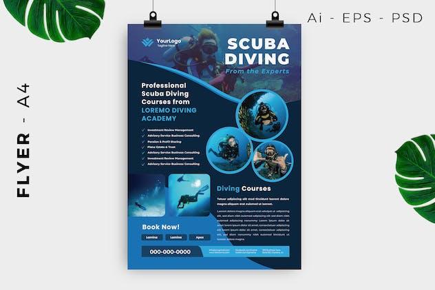 Scuba Diving Flyer Design