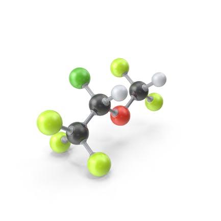 Isoflurane Molecule