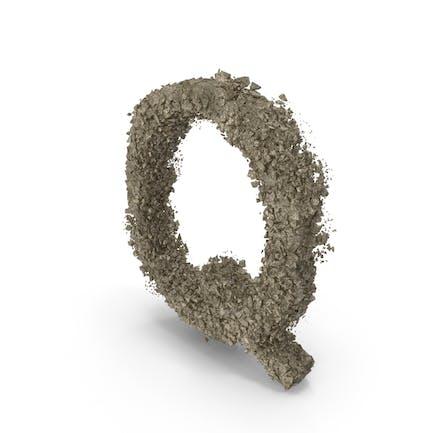 Zerstörungsstein Buchstabe Q