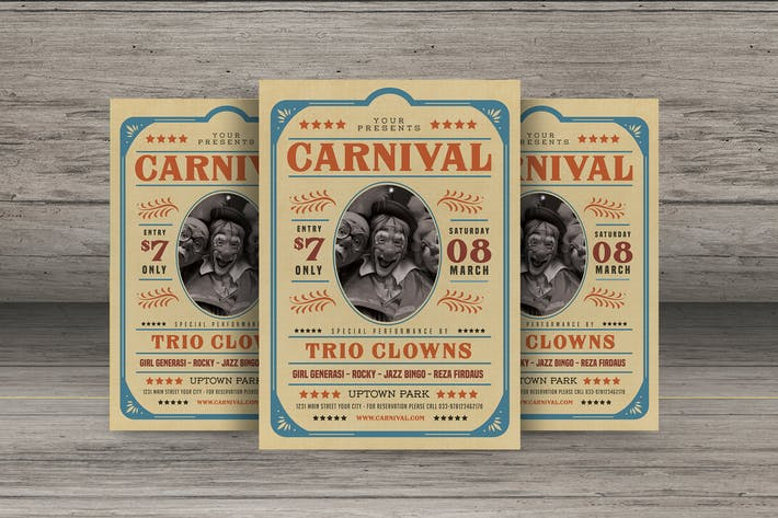 Thumbnail for Old Retro Carnival Flyer