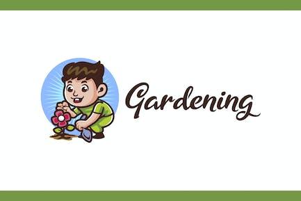 Kid Gardening - Gardening and Landscaping Logo