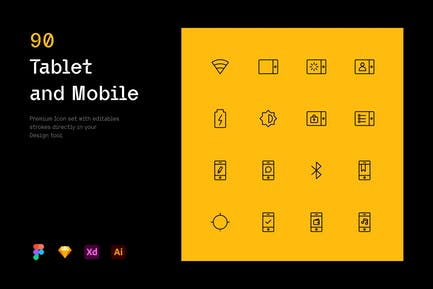 Tablet and Mobile - Iconuioo