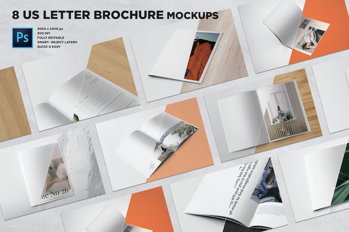 Thumbnail for US Letter Brochure Mockups