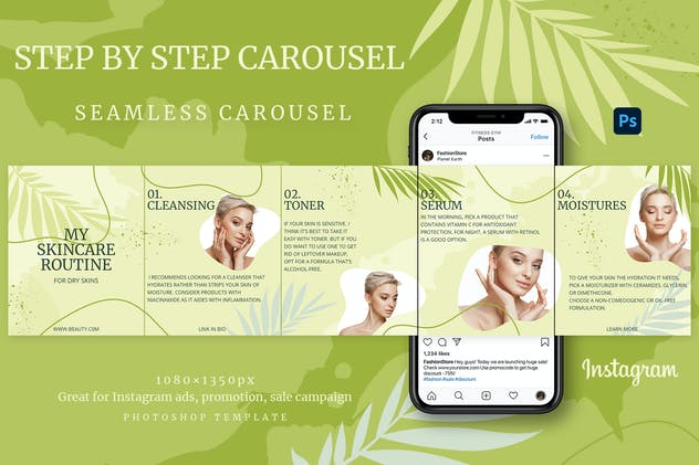 Step-by-step Instagram Carousel