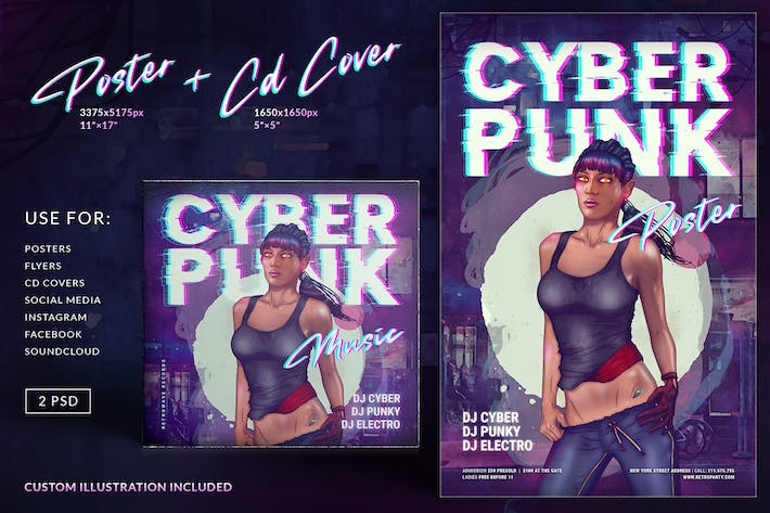 Thumbnail for Cyberpunk Poster CD Cover