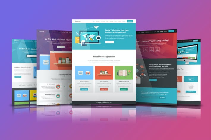 Thumbnail for Spectrum - Premium HTML5 Template
