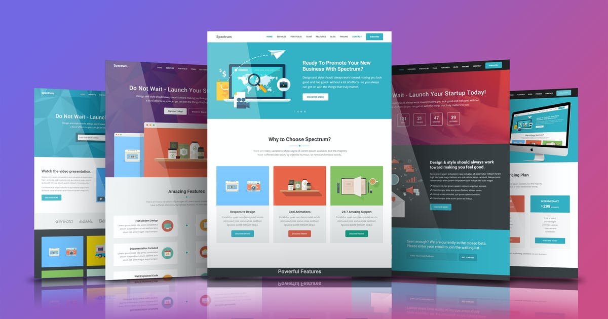 Download Spectrum - Premium HTML5 Template by Epic-Themes