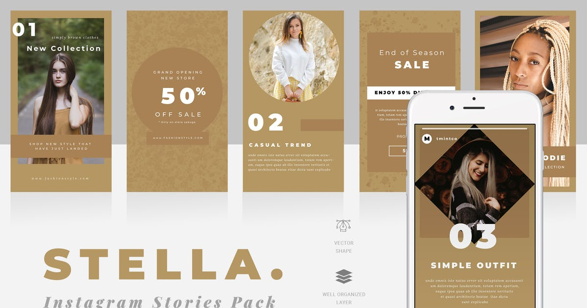 Download Stella Instagram Story Templates by TMint