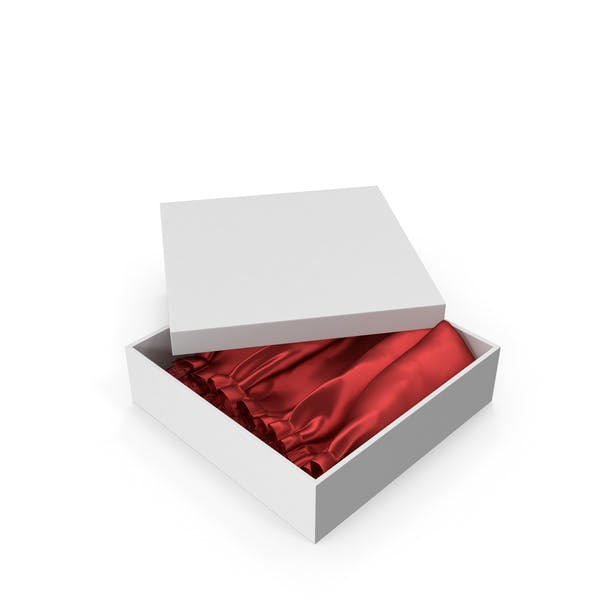 Thumbnail for Gift Box With Red Silk Fabric