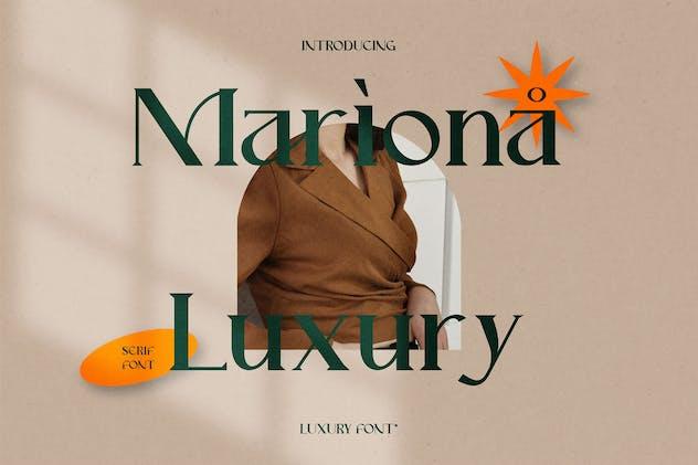 Mariona Serif Font