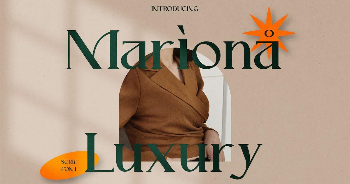 Download Mariona Serif Font by axelartstudio