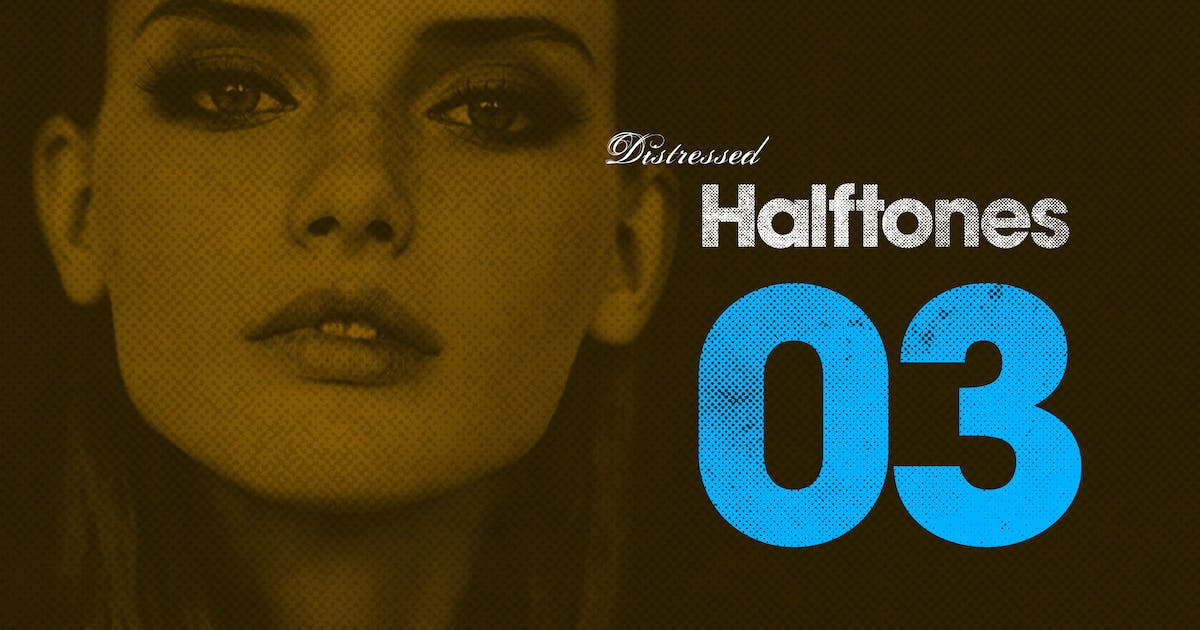Download Distressed Halftones 03 by CollectiveOffset