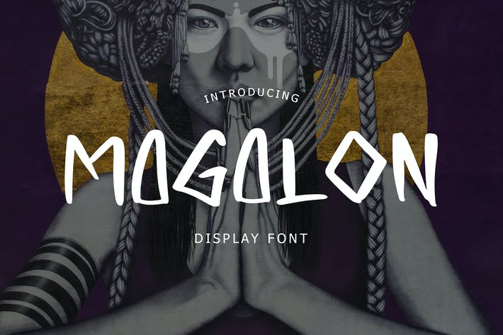 Thumbnail for Magalon Unique Display Font