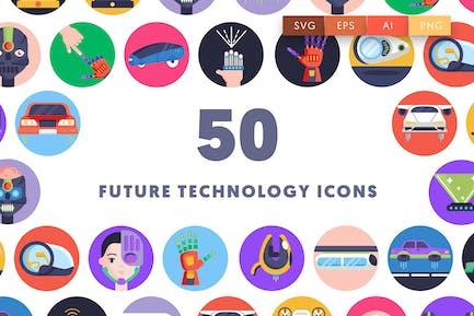 50 Future Technology Icons