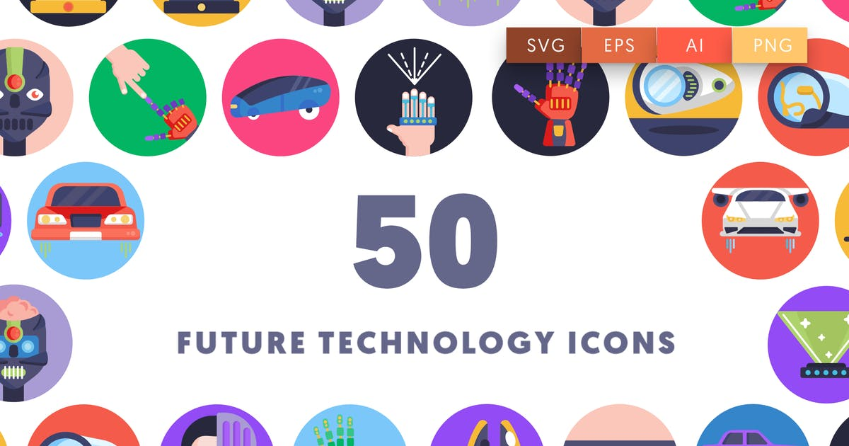 Download 50 Future Technology Icons by thedighital