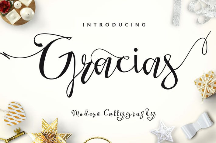 Thumbnail for Gracias - Beautiful Script Modern Calligraphy