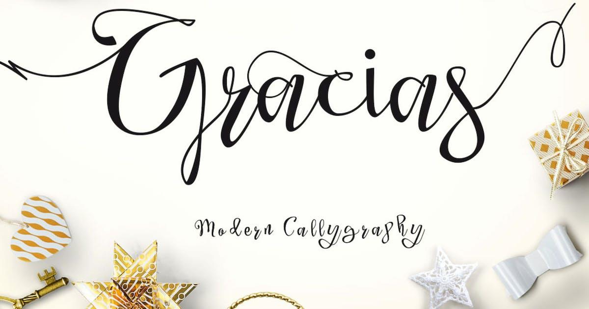 Download Gracias - Beautiful Script Modern Calligraphy by dirtylinestudio