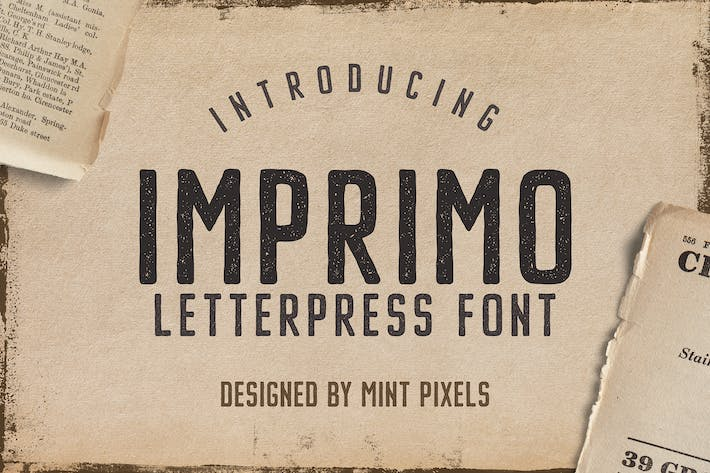 Thumbnail for Imprimo Letterpress Font