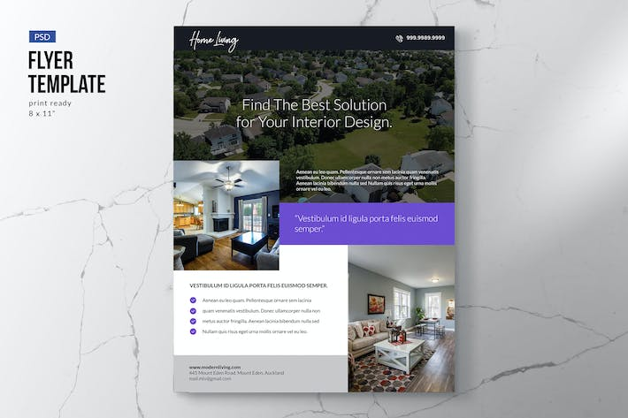Thumbnail for Simple Property Flyer Template