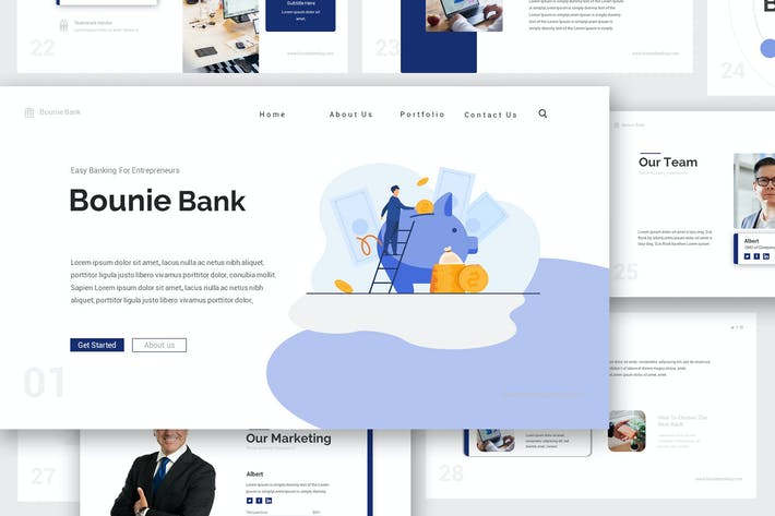 Thumbnail for Bounie Company Profile Google Slides Template