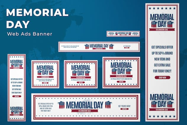 Web Ads Banners - Memorial Day