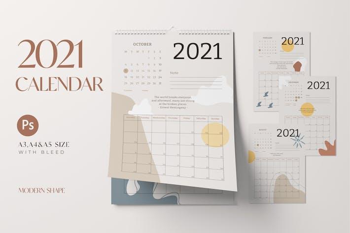 2021 New Year Calendar 12 Months