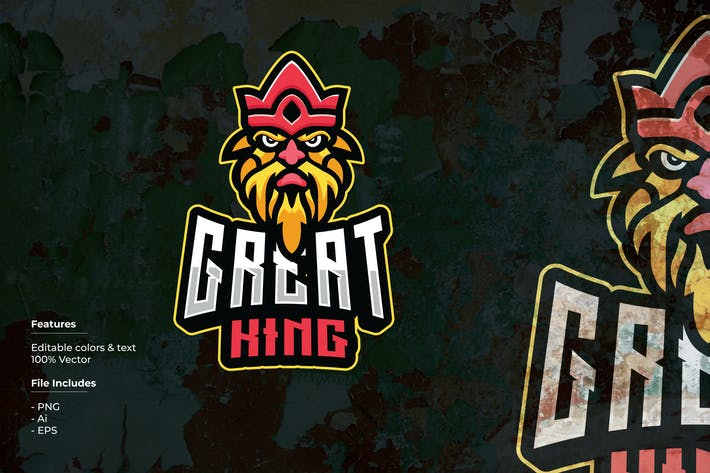 Thumbnail for Great King Sport and Esport Logo Template