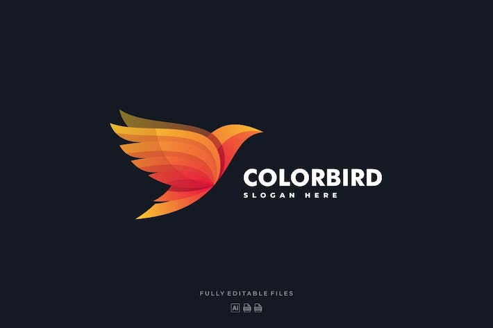 Cover Image For Bird Gradient Colorful Logo