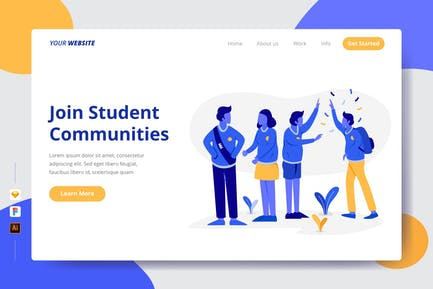 Join Student Communities - Landing Page