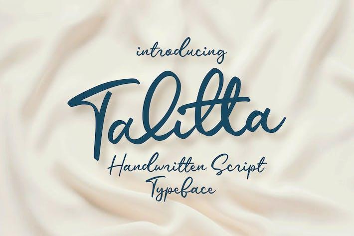 Thumbnail for Talitta - Script Font