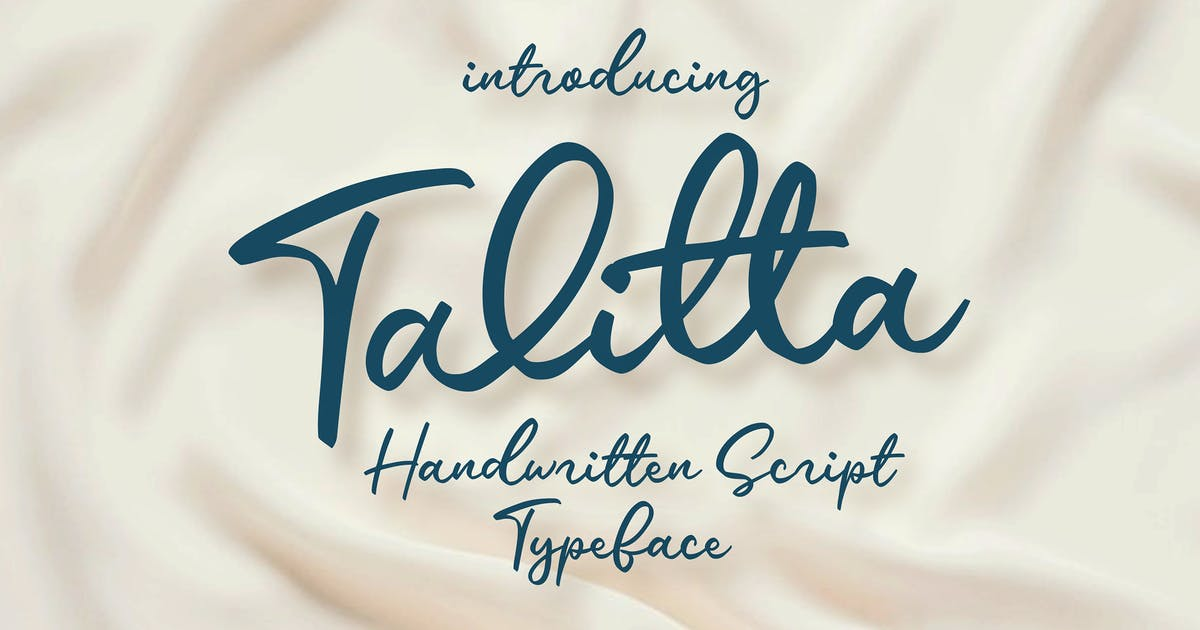 Download Talitta - Script Font by graptailtype