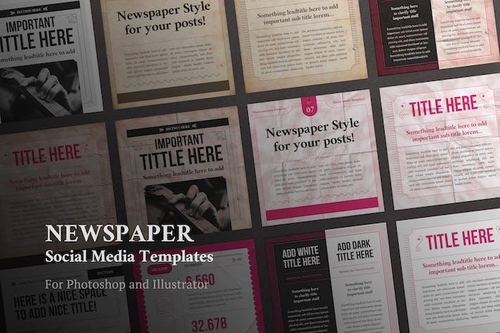 Newspaper Social Media Templates