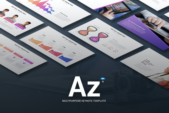 Thumbnail for Az - Multi-purpose Keynote Template