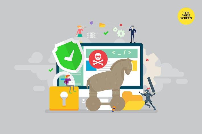 Thumbnail for Trojan Horse Malware Protection Vector Concept 2